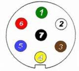 7- Pin Steckdöse + montage platte und kabel_6