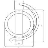 Rohrklappstecker 8 mm._8
