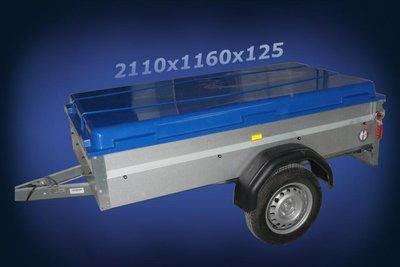 Deckel Anhänger polyester 2110x116x125mm.