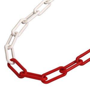 Kunststoffkette 6 mm Rot/Weiß.