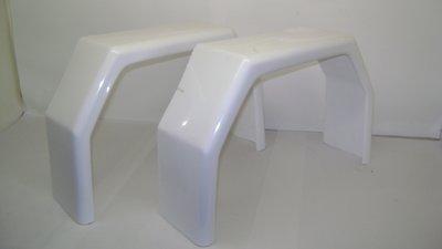 Kotflügel Polyester GFK, TM350, weiß.