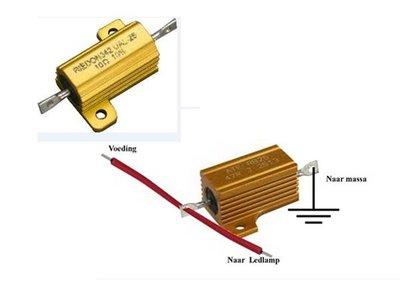 Widerstand für blinker, 10 Ohm 25 Watt.